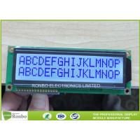 Buy cheap 16x2 STN Character LCD Display Module , Digital LCD Display COB Type STN Blue Positive from wholesalers