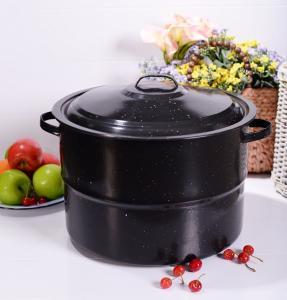 Buy cheap heavy-duty 44*44*33cm dimension black color 33QT enamel stock pot product