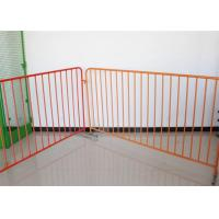 Buy cheap 360 Degree Welding Temporary Crowd Control Barrier Made By Round Pipe For Safety product
