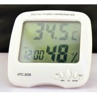 China HTC-303A -50°C - 70°C  10%~99%RH Smart Large LCD Digital Hygro Thermometer humidity Meter With Alarm Clock on sale