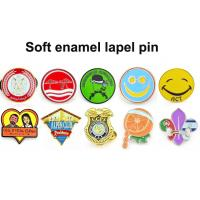 Buy cheap Nickel Plating Custom Soft Enamel Pins Badges Plus AP Rhinestone Letter Flower Crystal Cross from wholesalers