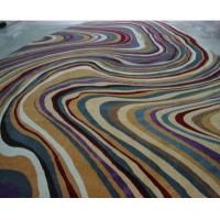 Buy cheap Cut Pile Striped Handmade Wool Carpets ,Aximinster Prayer Hand Woven Rug from wholesalers
