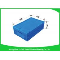 Stackable Plastic Pallet Boxes PP Material , Folding Plastic Crates Transport Moving