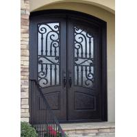 Buy cheap Arch Top Wrought Iron Double Door from wholesalers