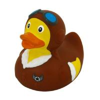 Buy cheap ISO certificated Weighted Brown Aviator Rubber Duck With Sunglasses Promotional Gift from wholesalers