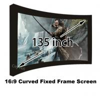 Buy cheap Great Design 135 Curved Fixed Frame DIY Projector Screens 16 To 9 With 80mm Black Velevt from wholesalers