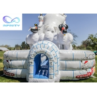 Buy cheap 11x6.3x6m Giant Polar Bear Water Slide Polar Plunge Inflatable Pool Water Slide for sale product