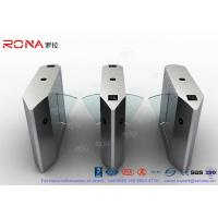 Buy cheap Electric 316 SS Security Flap Barrier Gate Turnstile Gate With IR Sensor 13.56mhz Card Reader product