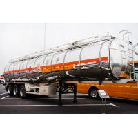 Buy cheap tri-axle 50000 liters aluminum CIMC oil tank trailer with air suspension for sale from wholesalers