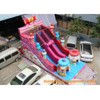 Buy cheap inflatable combo fun games with used commercial inflatable bouncers pink slide from wholesalers