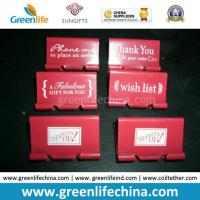 Buy cheap Customized White Logo Printing on Red Binder Clip for Promotion from wholesalers