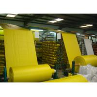 Buy cheap Woven Polypropylene Cloth Roll , Yellow Offset Print Woven PP Fabric UV Treated from wholesalers