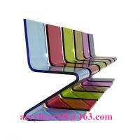 Buy cheap Hot sale elegant colored acrylic furniture Z Shape acrylic chair from wholesalers