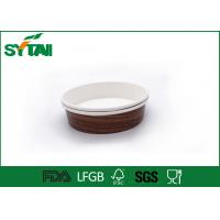 Buy cheap Single Wall Custom Paper Coffee Cups / Espresso Coffee Cups For Yogurt / Hot / Cold Drink from Wholesalers