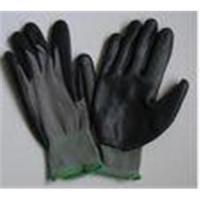 Buy cheap Black Nitrile Coated Grey Nylon Liner Knitted Seamless XL Industrial Safety Hand Gloves from wholesalers
