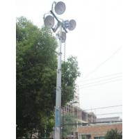Buy cheap portable light tower 3 to 12m with LED lam head 400W *4 hand winch up aluminum telescopic mast tower from wholesalers
