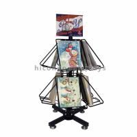 Buy cheap Greeting Cards Retail Store Fixtures Movable Commercial Book Display Wire Spinner Rack from wholesalers