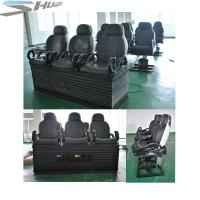 Buy cheap Newest 3 DOF Pneumatic / Hydraulic Black Motion Theater Chair With Dustproof Plastic Cover product