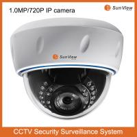 Buy cheap SunView SV-D1036F-POE 720P real time HD network support POE 1.0 Megapixel IR Dome IP camer from wholesalers