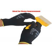 Buy cheap Black PU Coated Gloves , Lightweight Leather Working Gloves Knit Wrist from wholesalers