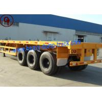 Buy cheap Flatbed Container Semi Trailer Truck , HOWO Brand Semi Equipment Trailer from wholesalers