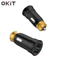 Buy cheap android car stereo dual usb port 4.8A car charger for mobile from wholesalers