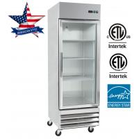 Buy cheap Upright Glass Door Refrigeator, reach in refrigerator, stainless steel refrigerator commercial refrigeator ETL UL from wholesalers
