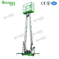 Buy cheap Double Mast Mobile Construction Aerial Work Platform 10 Meters 200Kg Truck-Mounted Type from wholesalers