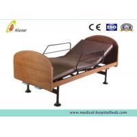 Buy cheap Wooden 2-function Manual Medical Hospital Beds for Home Use by Steel Construction (ALS-HM003) from wholesalers