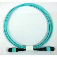 Buy cheap MTP Female Mtp Female Om3 Optical Fiber Patch Cord 12 Core Aqua Color from wholesalers