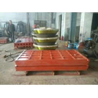 Buy cheap Fixed And Movable Casting Jaw Crusher Plate High Manganese Crusher Spare Parts from wholesalers