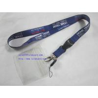 Buy cheap ID Badge Card Holder Heat Transfer Lanyard With Cellphone Attachment from wholesalers