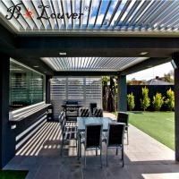 Buy cheap Modern house decoration aluminum pergola opening louver,Sun shading outdoor from wholesalers