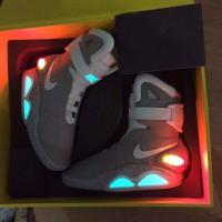 Buy cheap Latest Hottest Nike Air Mag Back to the Future Marty McFlys Sneakers Glow In The Dark Men's Basketball Shoes from wholesalers