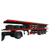 Buy cheap Flatbe  Container Transport Trailer Chassis 40 ton ,60ton, from wholesalers