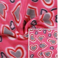 Buy cheap Polyester Fleece Fabric Heart Pattern Printed KFE-031 from wholesalers