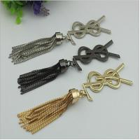 Buy cheap Handmade DIY handbag accessories making 185 length zinc alloy metal cord end cap with tassel from wholesalers