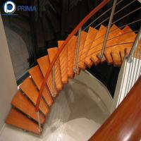 Buy cheap 2018 innovative product customized modern stainless steel curved stair for house from wholesalers