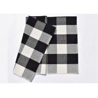 Buy cheap 60*90 Cm Cotton And Linen Black And White Plaid Mat , Woven Outdoor Porch Mats from wholesalers