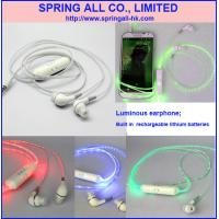 Buy cheap Luminous earphone, Luminous headset product
