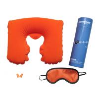 Buy cheap PVC flocking / polyester / PP cotton inflatable travel Pillow set for air travel from wholesalers