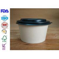 Buy cheap Firm Kraft Paper Salad Bowls / Reliable Paper Soup Bowls Eco - Friendly product