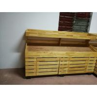 Buy cheap 2 Layers Promotion Supermarket Display Stands Wood Storage Shelves Banana Display Rack from wholesalers