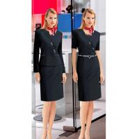Buy cheap Custom Company workwear clothing Corporate Uniforms for ladies ,Black from wholesalers