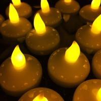 Buy cheap Set Of 12 Flickering Led Candle Light Yellow Tealight With Battery Replacement from wholesalers