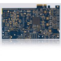FR4 Blue Multilayer PCB Board with ENIG Gold Fingers ISO9001 Certificated