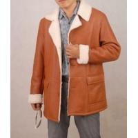 Buy cheap natural sheepskin fur leather men coat jacket from wholesalers