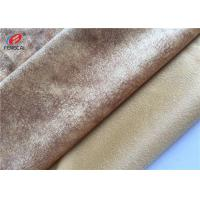 Buy cheap 100 Polyester Micro Fleece Tricot Fabric Custom Dyed Sofa Velvet Upholstery Fabric from wholesalers