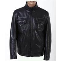 Buy cheap Size: XXL Man Spring windproof PU Leather Jacket 230T poly taffeta for sleeves product