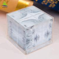 Buy cheap Clear 6 Side Acrylic Photo Frames Cube  Customized Size  Silk Screen Printing from wholesalers